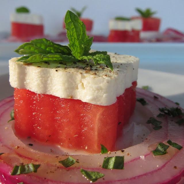 Arctic Garden Studio: Watermelon, Feta, and Mint Salad