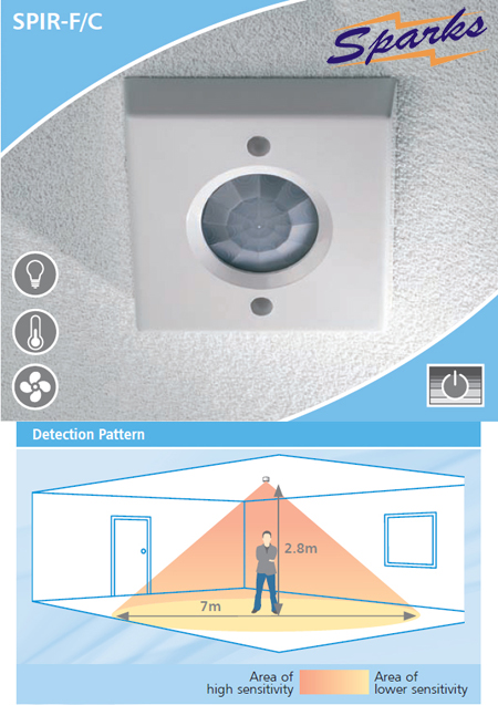 CP Electronics SPIR-F/C Ceiling Mounted Presence Detector