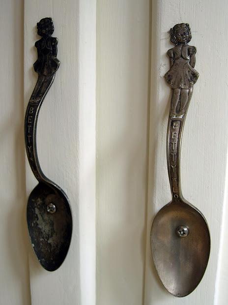 Vintage Spoon Cabinet Handles