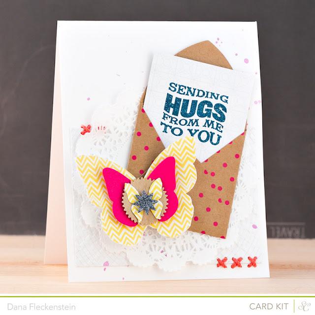 Sending Hugs handmade card by @pixnglue using Studio Calico's Planetarium kits