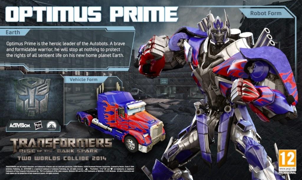 Transformers prime pc