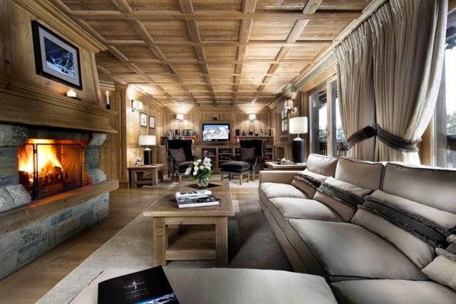 Salas De Estar Rusticas Decoradas ~ Fotos de salas rústicas con chimenea  Salas con estilo