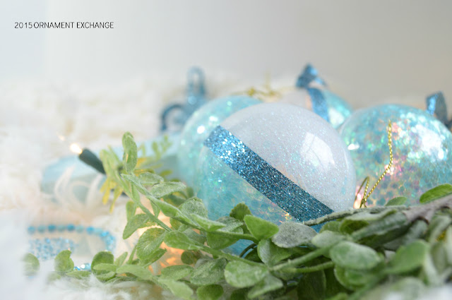 DIY Glitter and Glue Christmas Ornaments