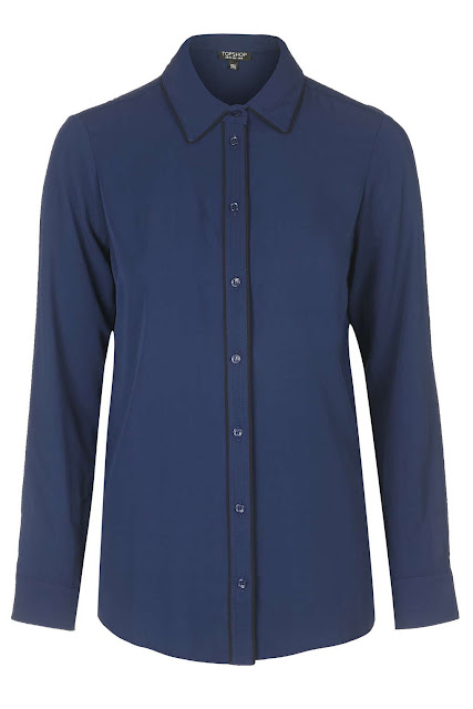 blue black piped shirt, blue black shirt,