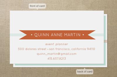 Minted business cards Em for Marvelous