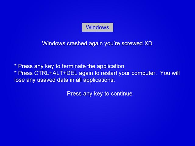 Blue Screen of Death image - Funny Geek Jokes
