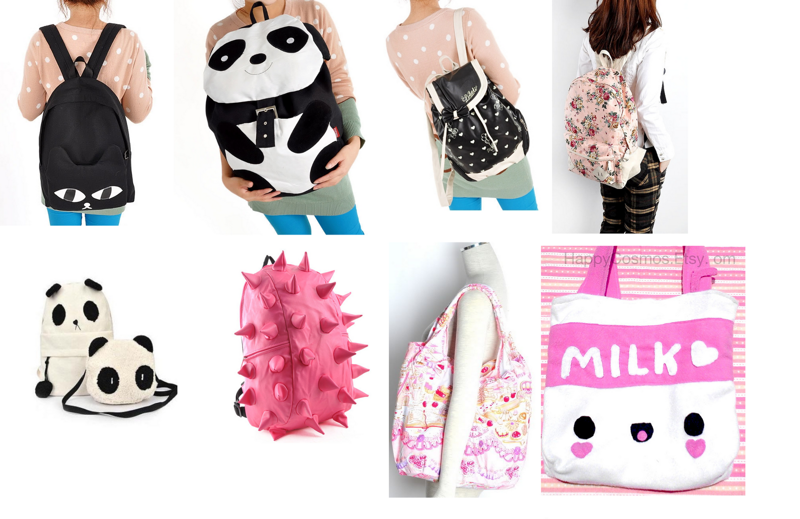 are just some examples of some super cute backpacks and two cute bags ...