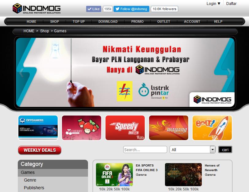 Daftar Penyedia dan Harga Voucher (Cash) Garena Indonesia Terpercaya dan Terbaru