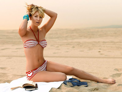 Kaley Cuoco Bikini on the Beach