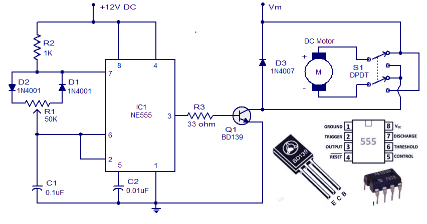 Circuit Controleur Moteur Cc Avec Ne555 together with Using Transistor Yet also Cmos 4011 Long Delay Timer likewise Clap Switch besides Simple Led Blinking Circuits. on simple transistor circuits