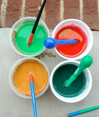 DIY Tutorial for Sidewalk Chalk Paint