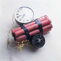 Sticks of dynamite strapped to a timer