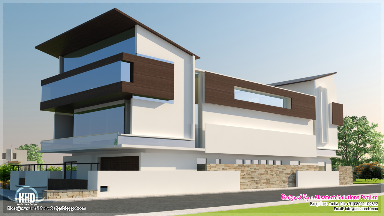3D Visualizations of interiors and elevations - Kerala home design and ...