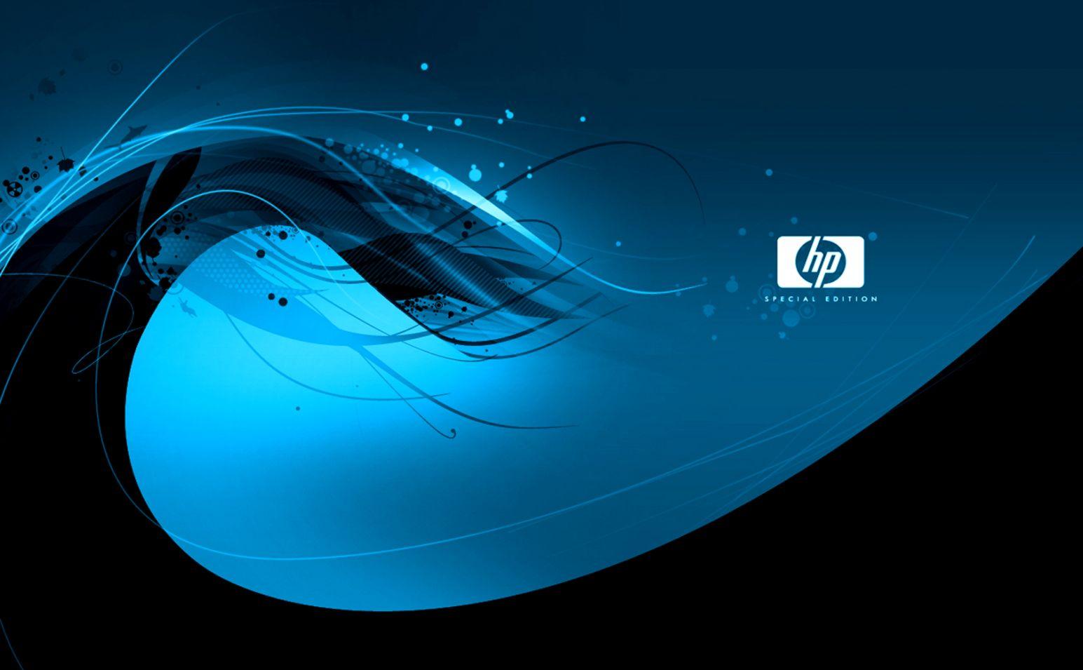 Download Lovely Blue Hp Wave Hd Theme Bin Customization Hd