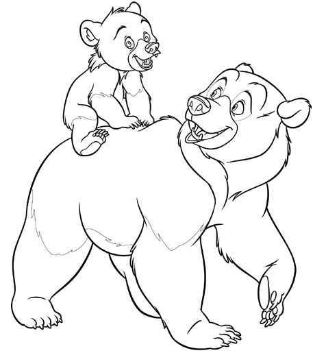 Dibujos animados para colorear: Hermano Oso para colorear