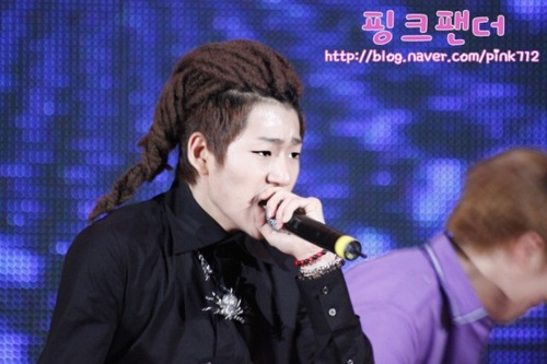 Block B Zico with dreads.