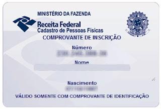 SEGUNDA VIA CPF PELA INTERNET RECEITA FEDERAL GRÁTIS