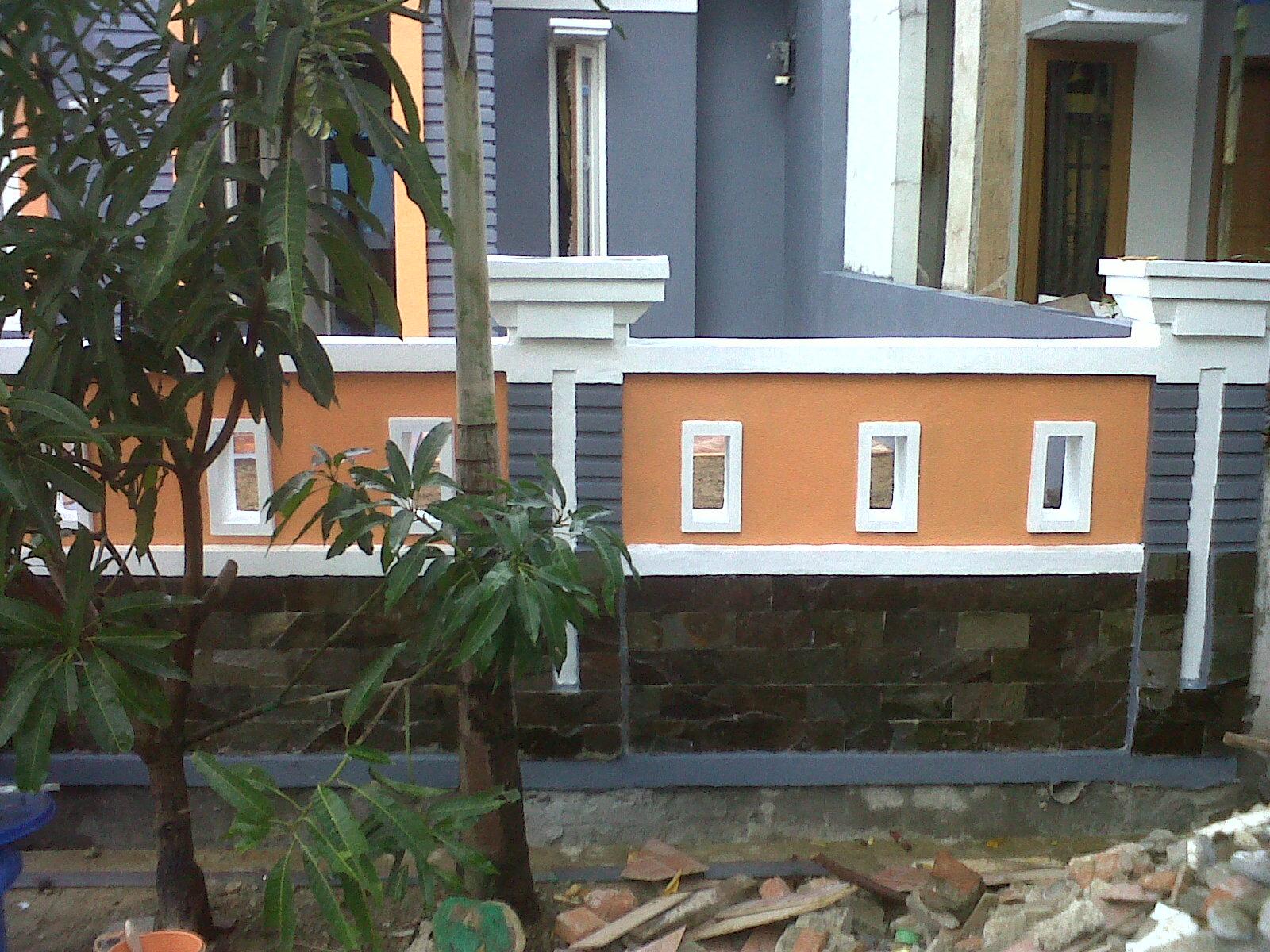 Kos Tembok Pagar Rumah Teres | Ask Home Design