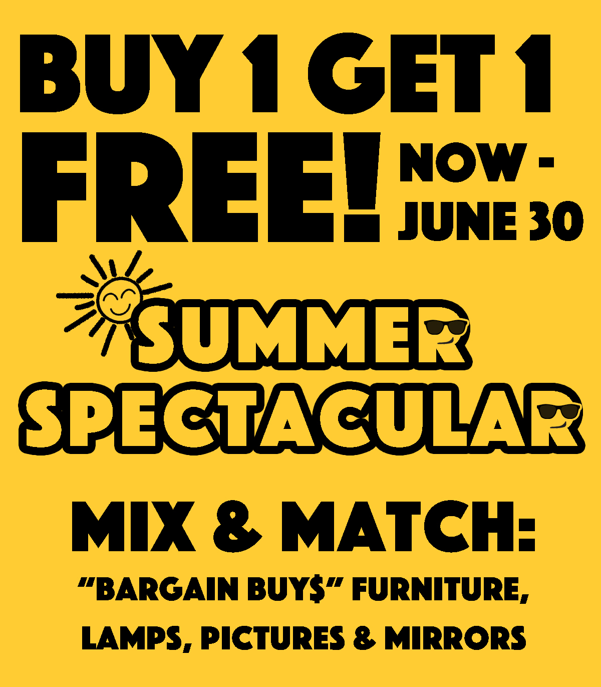 JUNE SALE - Buy 1 Get 1 FREE!