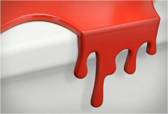Mustard Plastic Splash Style Chopping Board, Red Chopping Board, kitchen gift, Kitchen Utensil, blood Splash Style