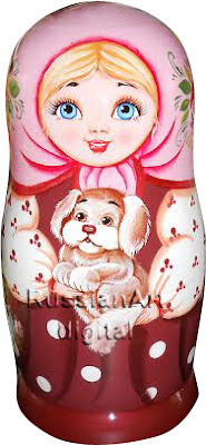 Clip Art Matryoshka Commercial Use own print Instant Download