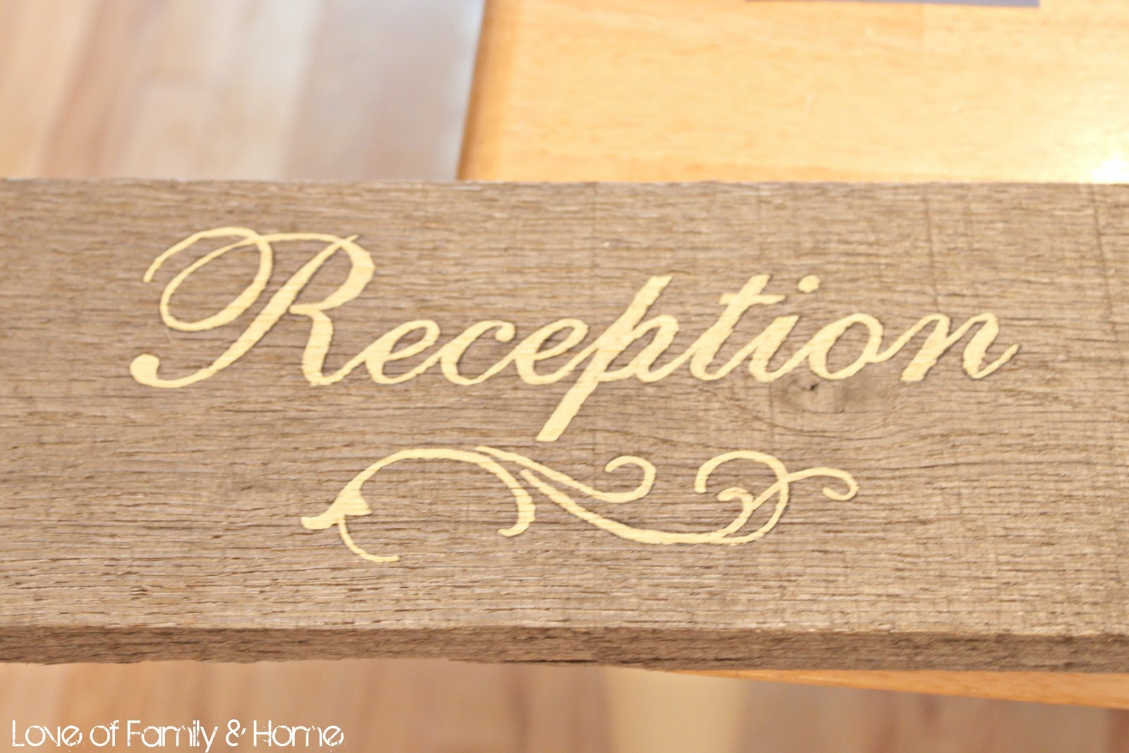 DIY Wooden Wedding Signs... - Love of Family & Home