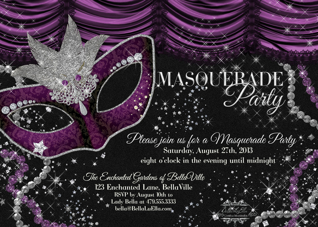 Bella luella masquerade parties for spring and summer for Maquerade invitations