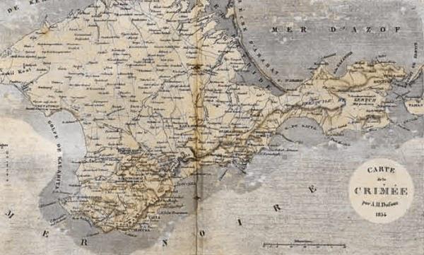 Карта Крыма, 1834