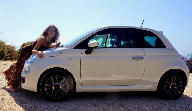 Fiat 500 blanco Mallorca
