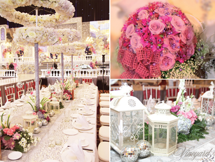 Vineyard event floral decoration surabaya silver pink white silver is a very popular colour silver is cool like gray but livelier more playful silver can be sleek and modern colour silver often symbolizes riches junglespirit Gallery