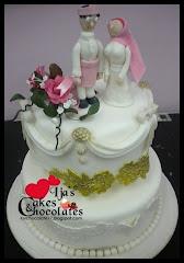 Wedding cake~fondant 4