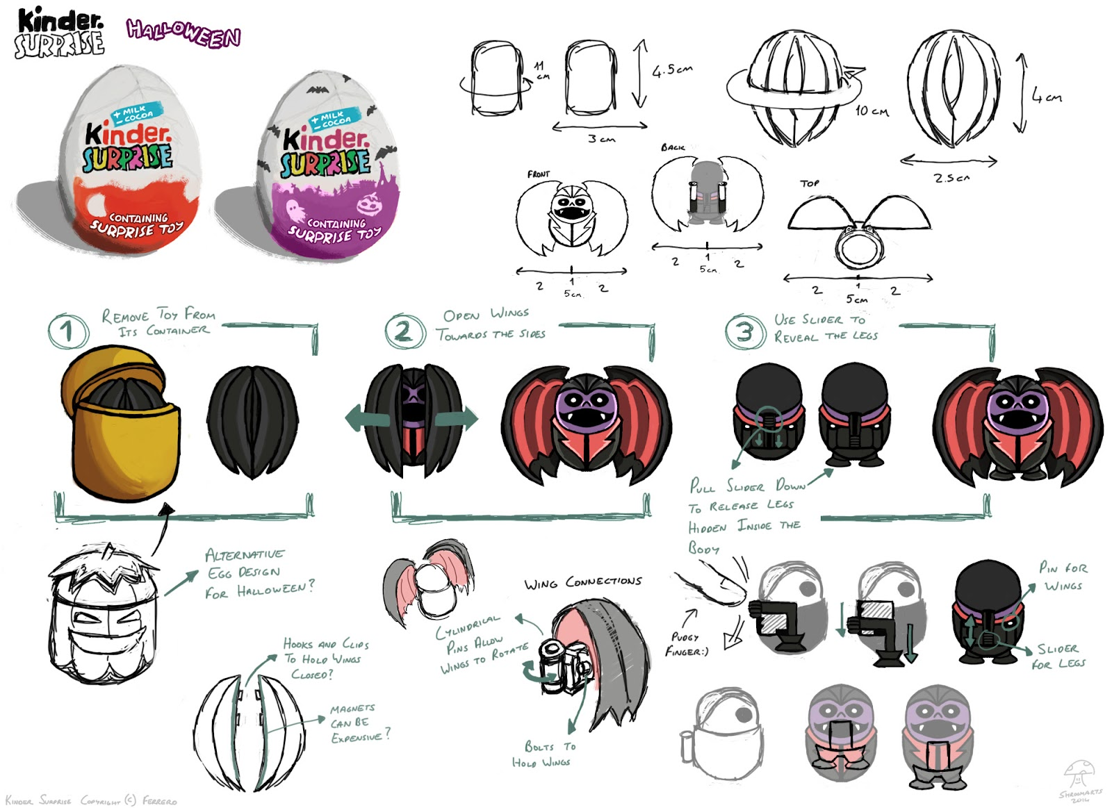 Kinder surprise halloween toy concept