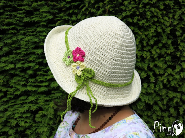 Crochet Hat Summer Breeze - free crochet pattern by Pingo - The Pink Penguin