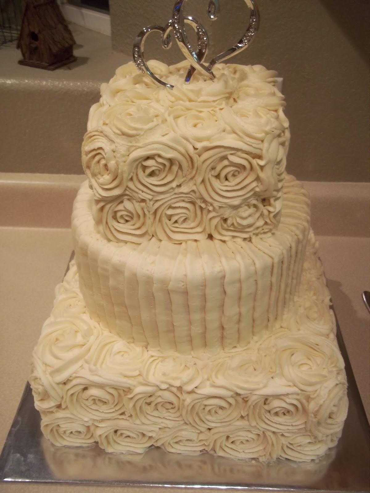 Cakes By Jenn Rosette Wedding Cake