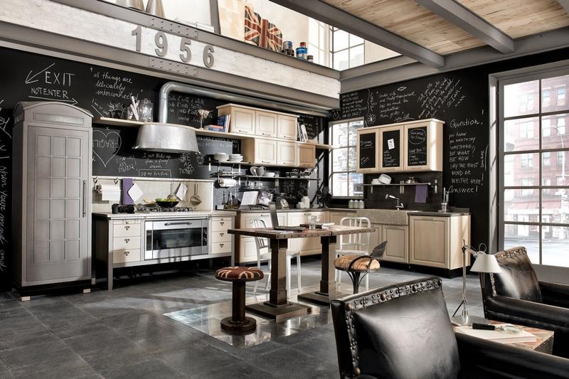 cuisine retro annee 50 industrial style kitchen - Cuisine Retro Annee 50