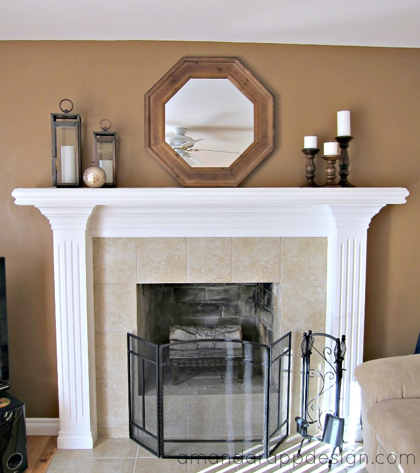 amanda rapp design mantel decorating simple classic
