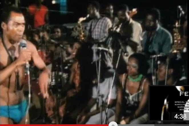 Fela Performing on stage