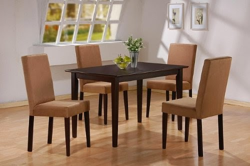 5pc cappuccino finish dining table