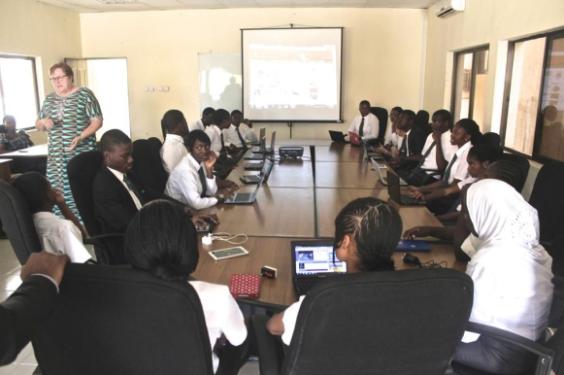 Photos: 15 Chibok girls admitted into AUN Academy on scholarship