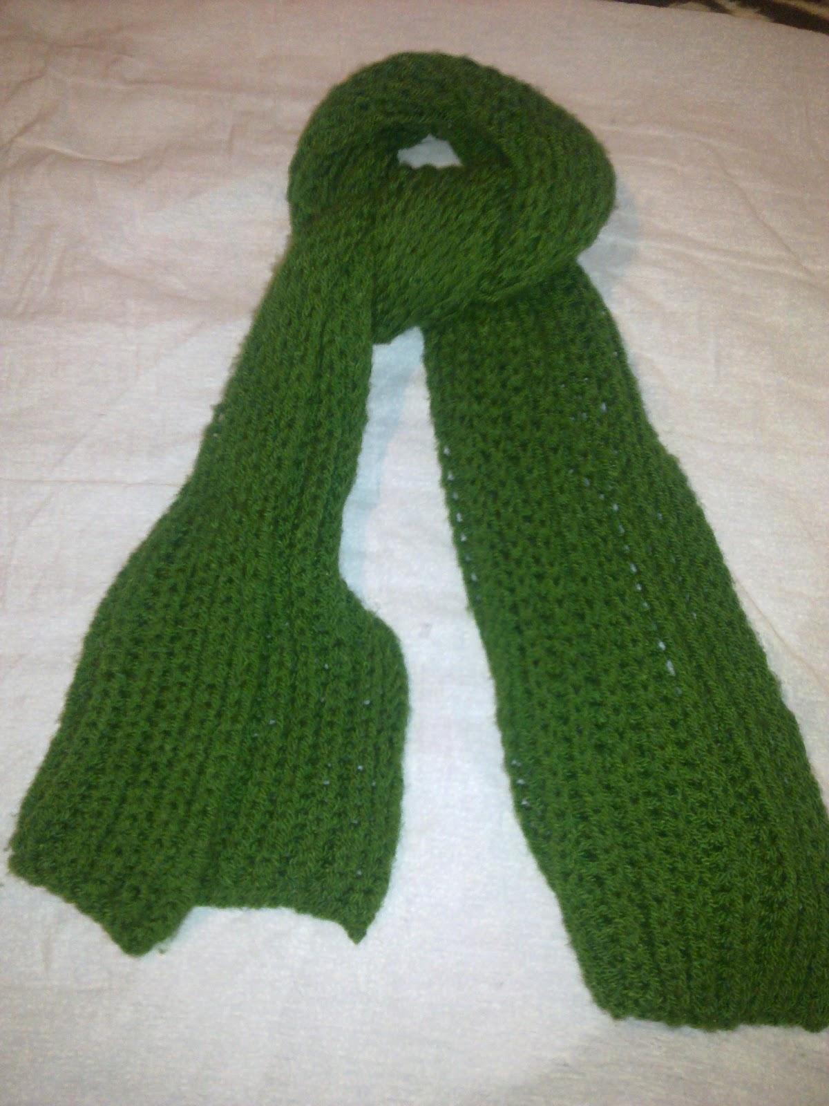 El Crochet de Alice: Bufanda verde