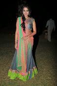 Manasa Glamorous Photos in Half saree-thumbnail-2