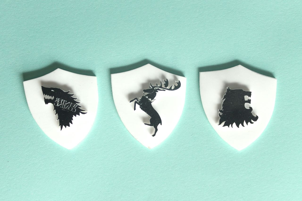 Shrinky Dink Diy Game Of Thrones Sigil Badges