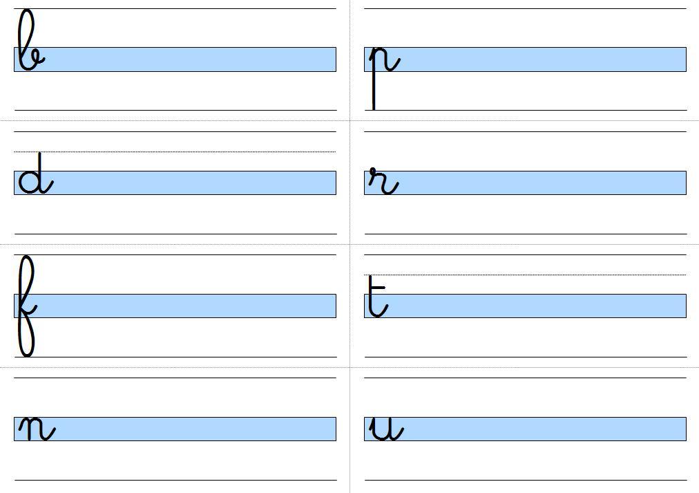 Pour chaque feuille, il faut découper au préalable sur les lignes