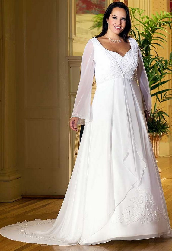 Wedding dress wedding dresses for fat women for Best wedding dresses for short fat brides