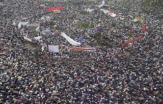 أروع صورة تم إلتقاطها لميدان التحرير اليوم