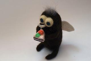 игрушки из шерсти, муха