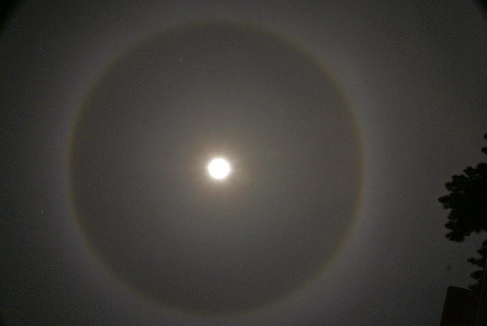February Ring Around Full Moon