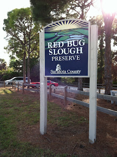 Entrance sign at Red Bug Slough