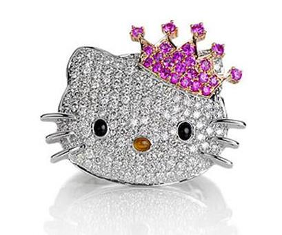 Lots Of Ring Designs And Materials That You Can Make The Choice, One Of The Hello  Kitty Wedding Rings Are Pretty Sweet To Be Made In The Ring On Your Happy  ...