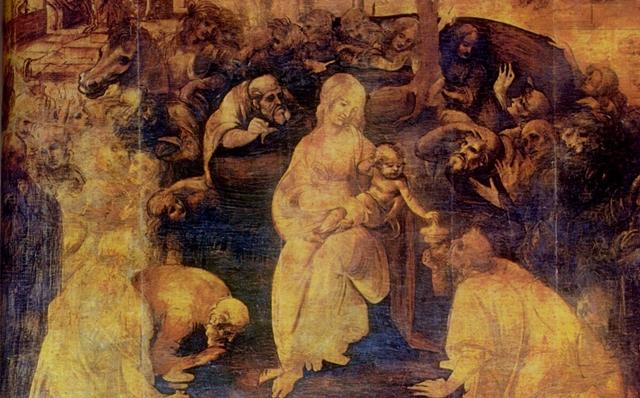 La Adoración de los Magos - Leonardo da Vinci